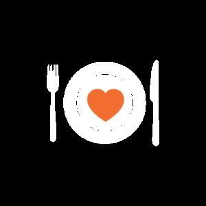 ikon tallerken hjerte